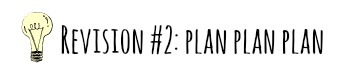 tips for revision - plan plan plan