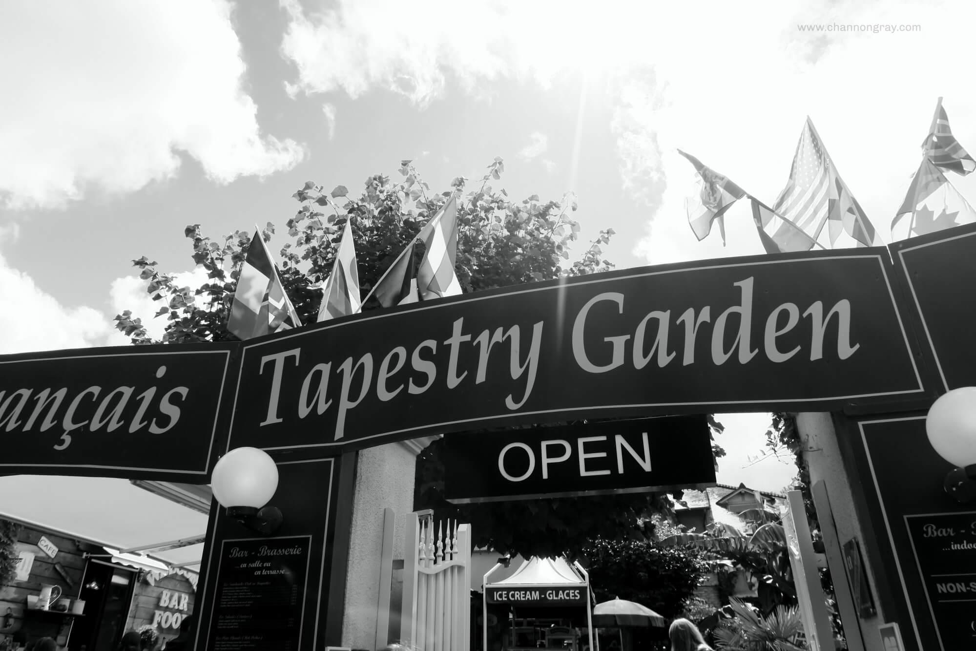 Tapestry Garden Cafe Bayeux France
