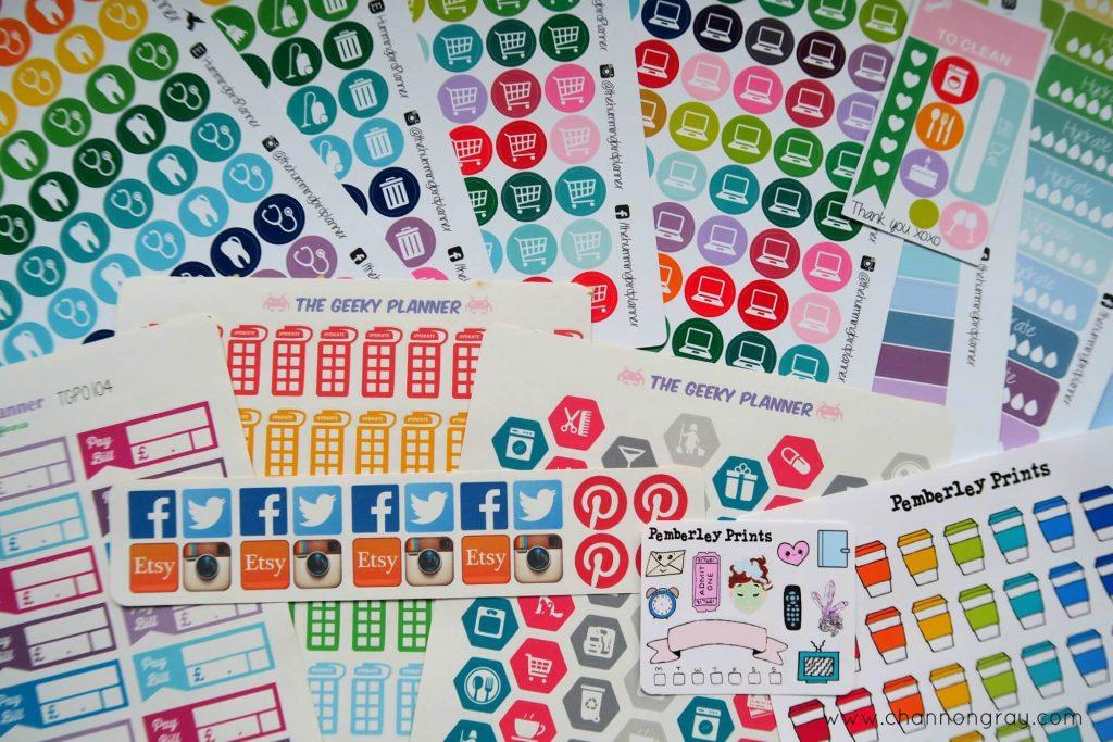 Etsy Sticker Haul // heythereChannon
