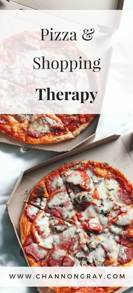 Pizza and Shopping Retail Therapy for a bit of mindfulness, wellbeing and self-care ideas with the family. www.channongray.com // heythereChannon