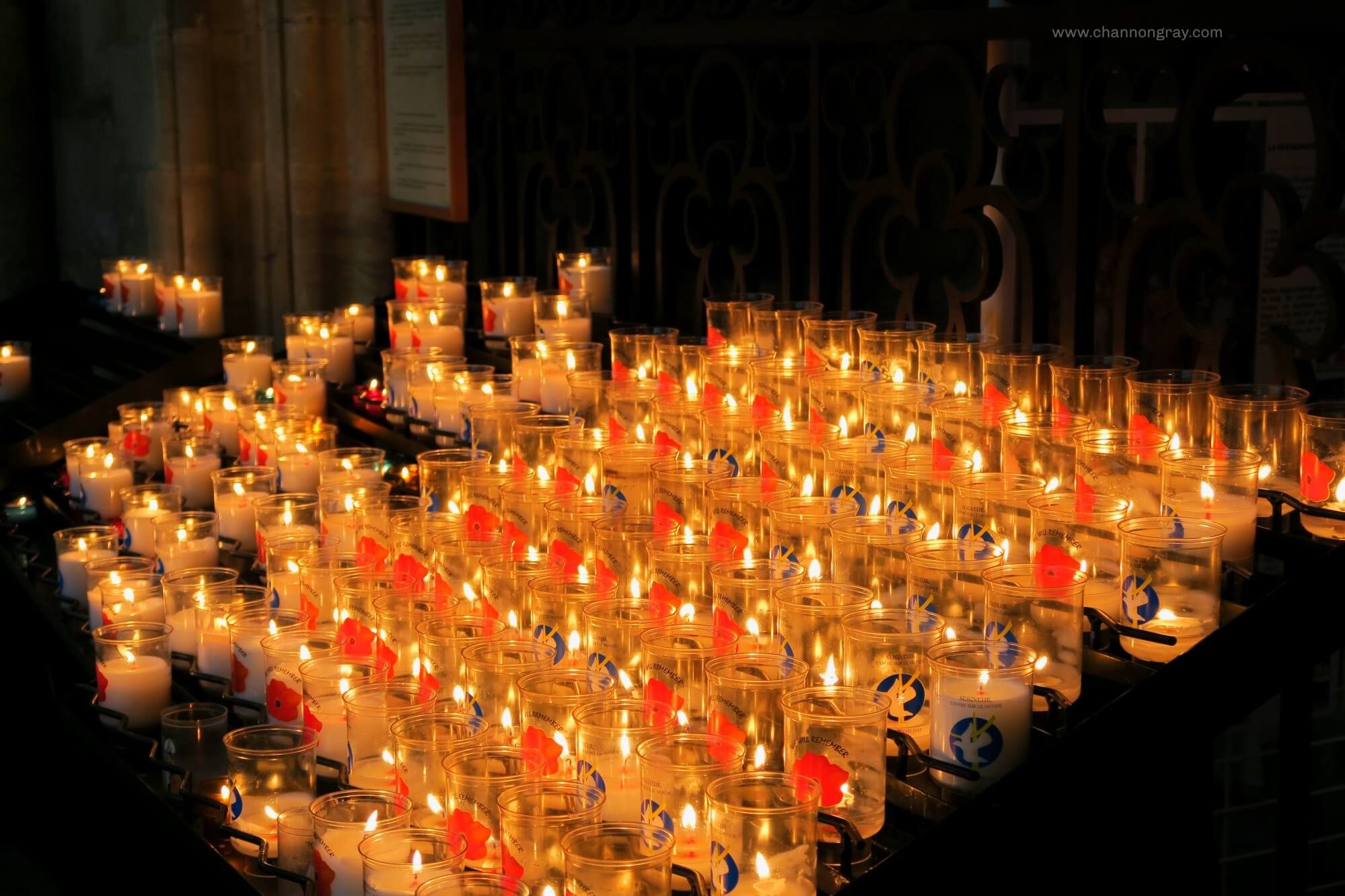 Candles in Bayeux Cathedral