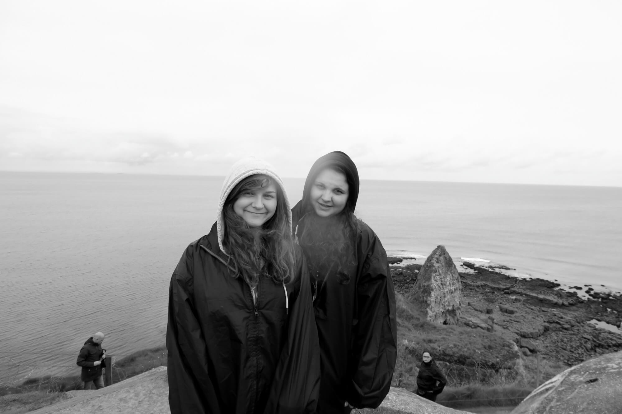 Me and my Sister at Pointe Du Hoc