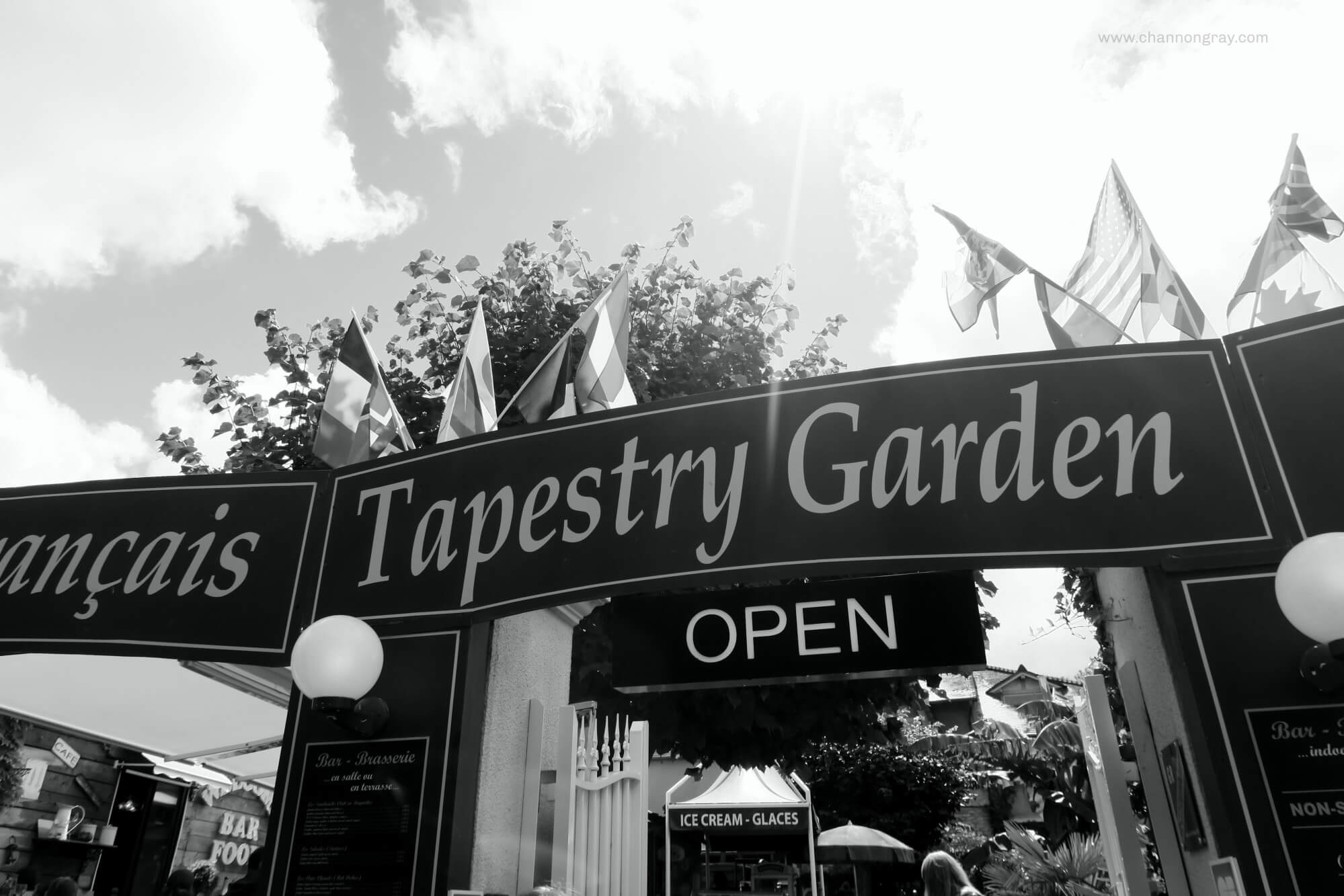 Tapestry Garden Cafe Bayeux France