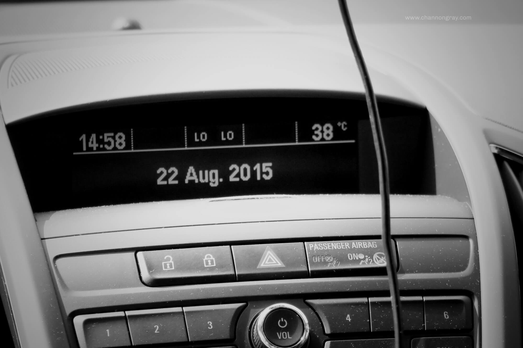 Temperature in the Car, France 2015