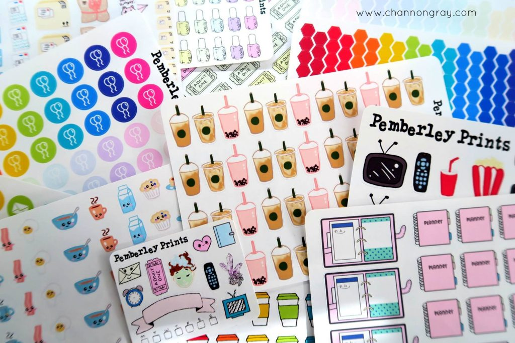 Etsy Sticker Haul // heythereChannon