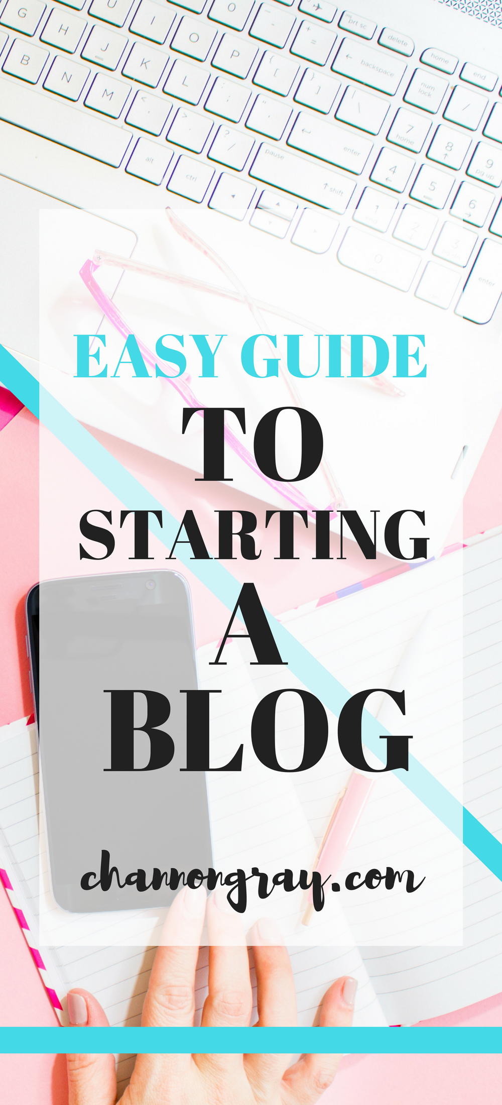 Easy Guide to Starting a Blog - Check Out the Blog Post. I have put together an easy guide to creating your own blog/space on the internet/writing space to share content and ideas. This is part of my blogging advice series featuring information on social media, such as Pinterest, WordPress, etc. It is ideal for beginners. #Bloggers #BlogIdeas // heythereChannon