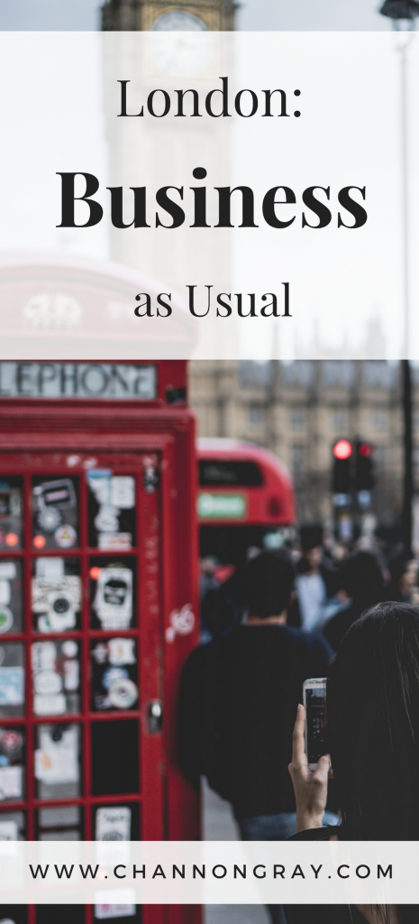 London following the attacks of 2017 showed incredible resilience and life simply continued as usual. I visited London Bridge and Westminster, Big Ben following those tragedies. It shocked me how 'normal' life seemed - www.channongray.com // heythereChannon #London #StandTogether