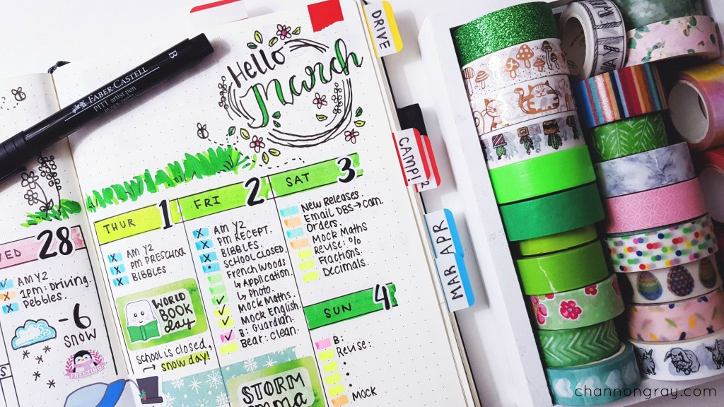 Finding happiness in creativity can help improve your mental health and well-being dramatically. Bullet Journalling is the creative key to feeling happier. It can reduce stress, anxiety and alleviate depression. Bullet Journalling can be simple or as creative as you want it to be. It is a place to track habits, weight-loss, gratitude, goals, etc. // heythereChannon - www.channongray.com #bulletjournal #mentalhealth #findinghappiness