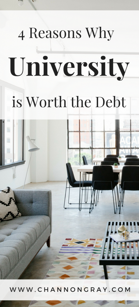 The question on everyone's mind is that: is university or college worth the debt? Is the course worth the money it costs? Do you need a degree to get a good job? Well, I've answered all those questions for you - www.channongray.com // heythereChannon #University #StudentTips #Debt