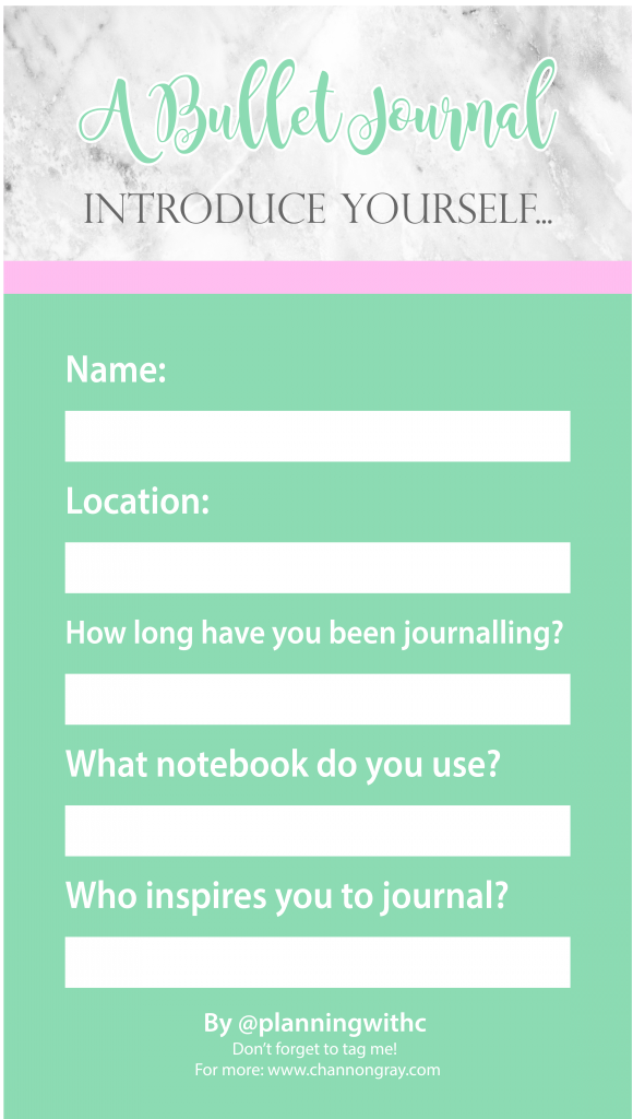 You know the fun Instagram templates people post on their stories? Or the ones that you see on Facebook stories? Well, I made some cute, minimal, stylish and bullet journal inspired Instagram story templates just for you! They will help you to get to know each other through fun questions, connect with fellow journallers, scrapbook or creative inspired individuals despite the algorithms and make genuine connections! All through story templates! These are unique and perfect for anyone whose hobbies are scrapbooking, planning, organisation, productivity or arts based // @heythereChannon - channongray.com - #productivity #bujo #bulletjournal #instagram #blogger #inspiration #organisation #artsandcrafts